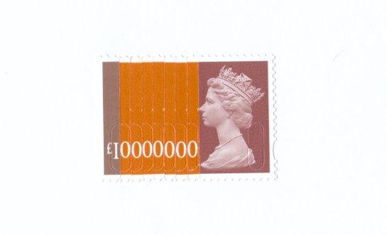10 Million Pound Stamp