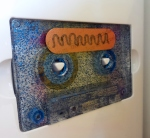 Basement Tape #1 - Blue Glitter Cassette and Sticker